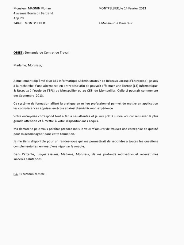Lettre De Motivation Pour Un Bts Muc Lettre Motivation Alternance Lettre De Motivation