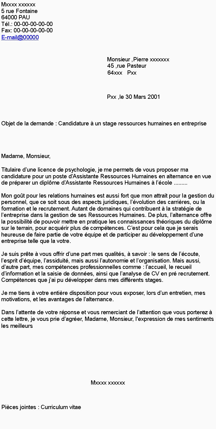 Lettre De Motivation Psychologie Cv Menuisier Poseur