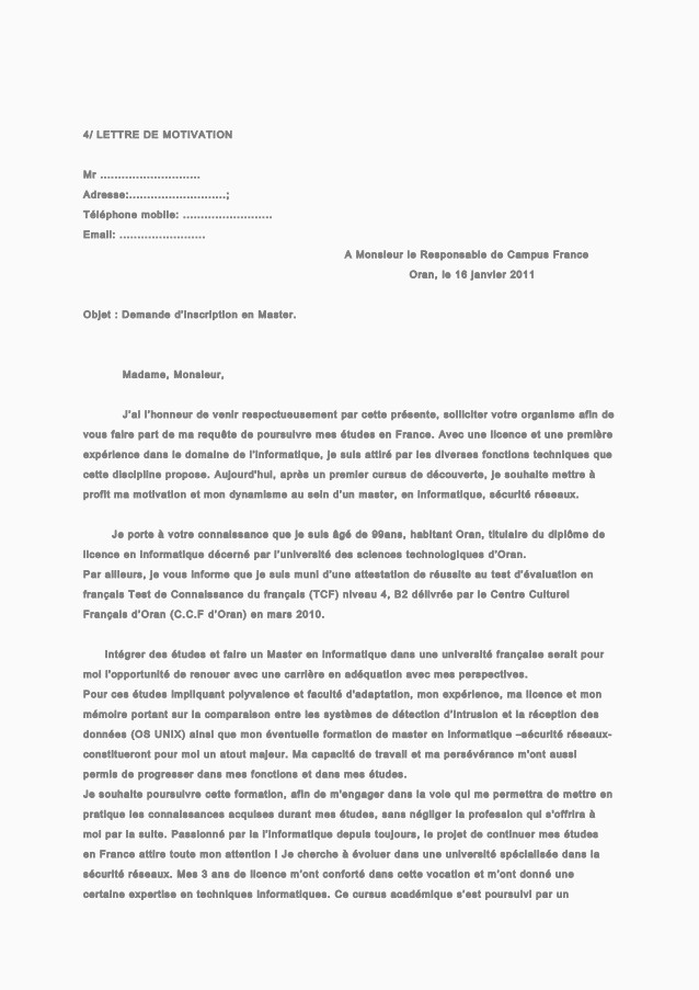 Lettre De Motivation Psychologie Lettre De Motivation Modele Tacutechco