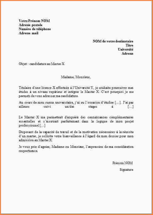 Lettre De Motivation Sciences Po Master 15 format Lettre Manuscrite