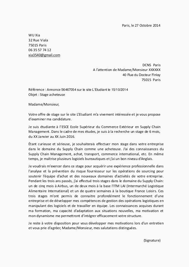 Lettre De Motivation Sciences Po Master 71 Modele Lettre De Motivation Reprise Merce