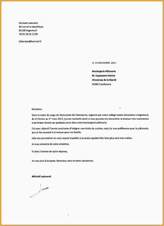 Lettre De Motivation Stage 3eme Commerce Deposer Un Cv Simple Lettre De Motivation Bts Alternance Entreprise