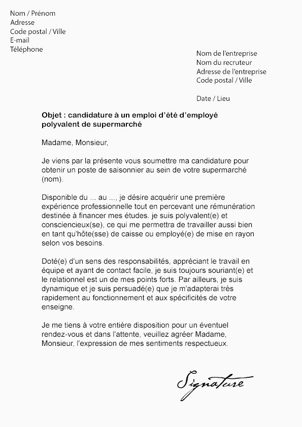 Lettre De Motivation Stage 3eme Commerce Lettre De D Mission Sans Pr Avis