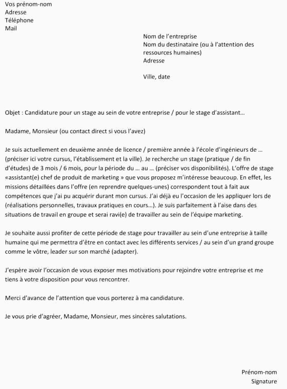 Lettre De Motivation Stage Journalisme Taskmastersite