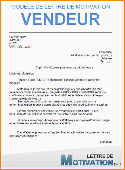 Lettre De Motivation Vendeuse Pret A Porter Sans Experience 15 Exemple Lettre De Motivation Vendeuse