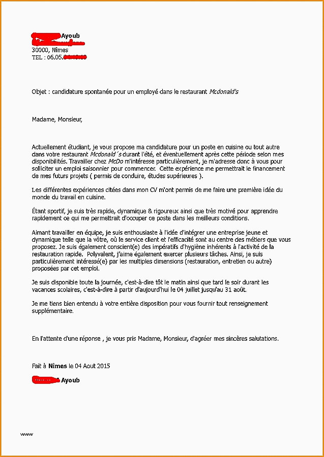 Lettre Motivation Restauration 20 Lettre De Motivation Sport Etude