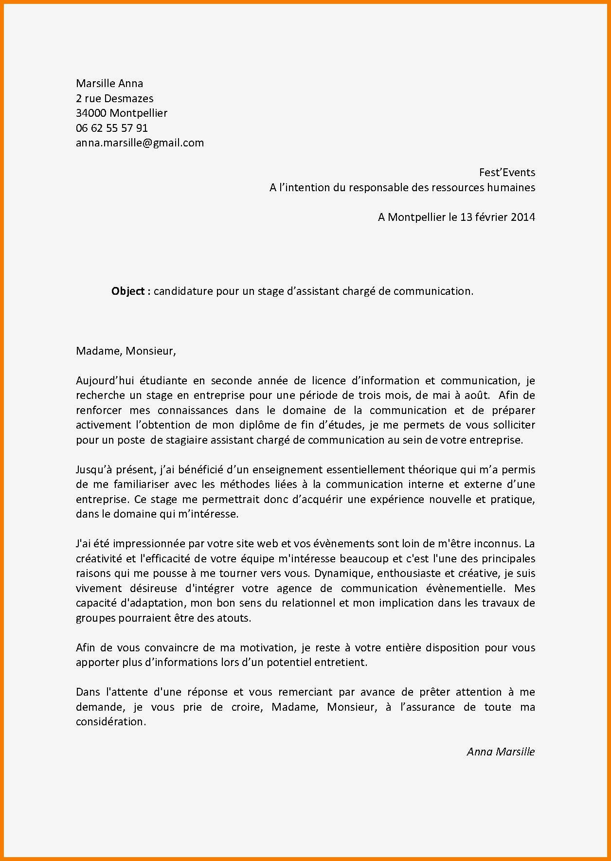 Lettre Motivation Stage Informatique 93 Exemple Lettre De Motivation Stage Banque