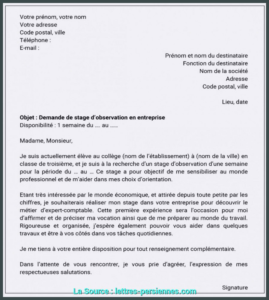 Lettre Motivation Stage Informatique De Valeur Lettre Motivation Demande De Stage Informatique Exemple