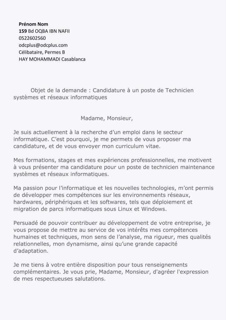 Lettre Motivation Stage Informatique Lettre De Motivation Technicien Informatique Frais Lettre Motivation