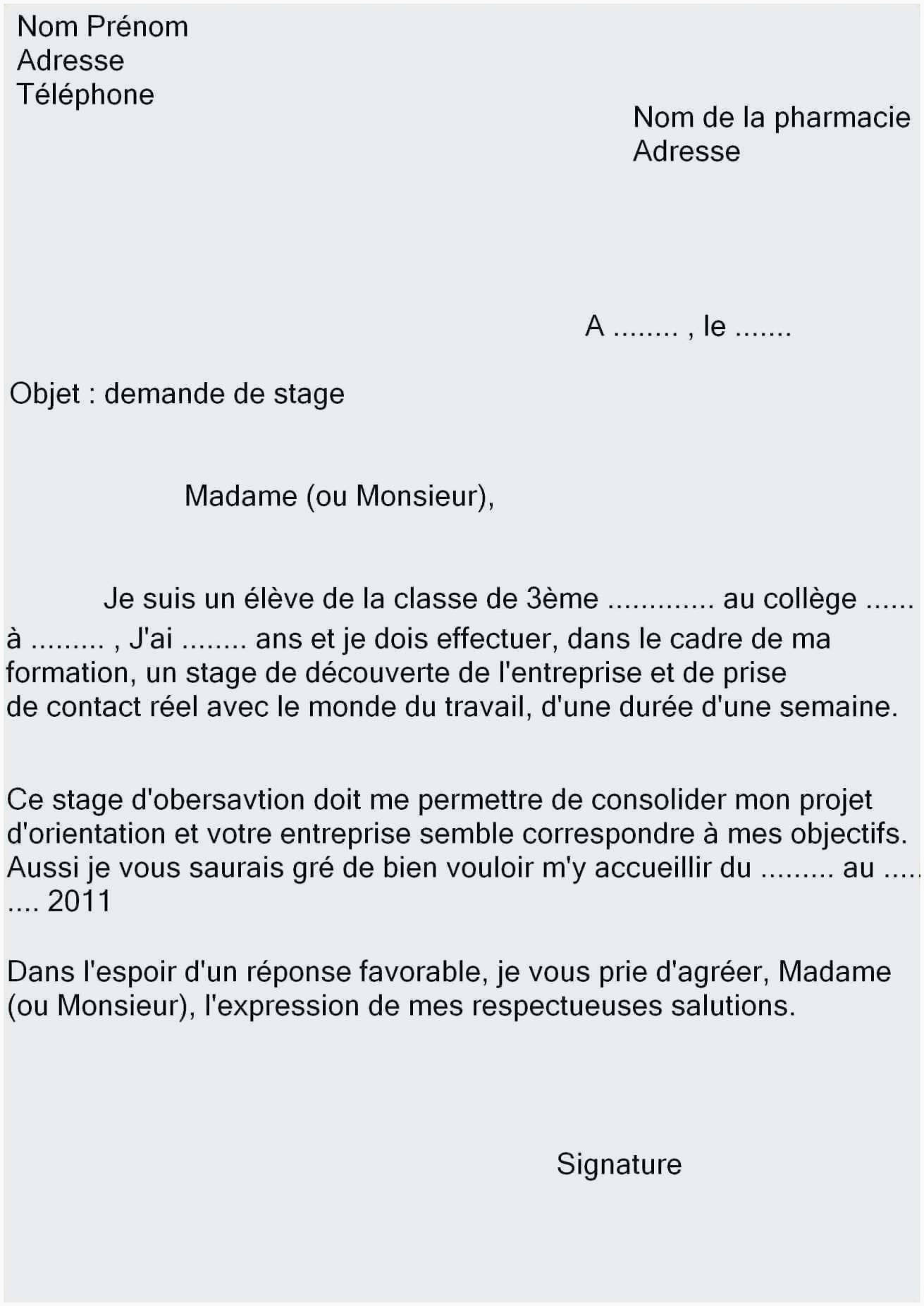 Lettre Motivation Stage Informatique Lettre Motivation Stage Bac Pro Lovely Lettre De Motivation Stage