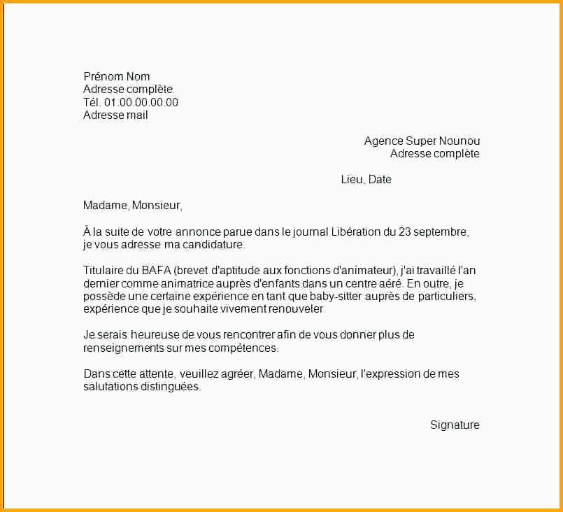 Modèle Courrier Administratif 10 Lettre De Motivation assistant Export