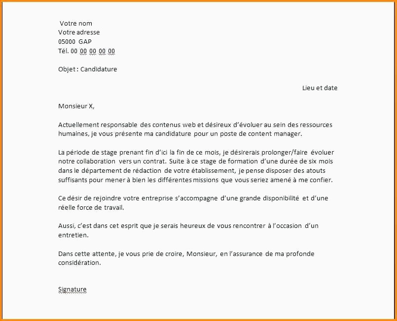 Modele De Lettre Administrative Gratuite Pdf 12 Lettre De Motivation assistant Export